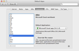 OSX File association manager.